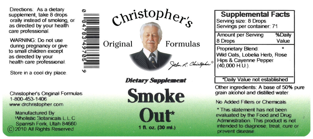 Smoke Out -  1 oz. Alcohol Extract - Christopher's Herb Shop