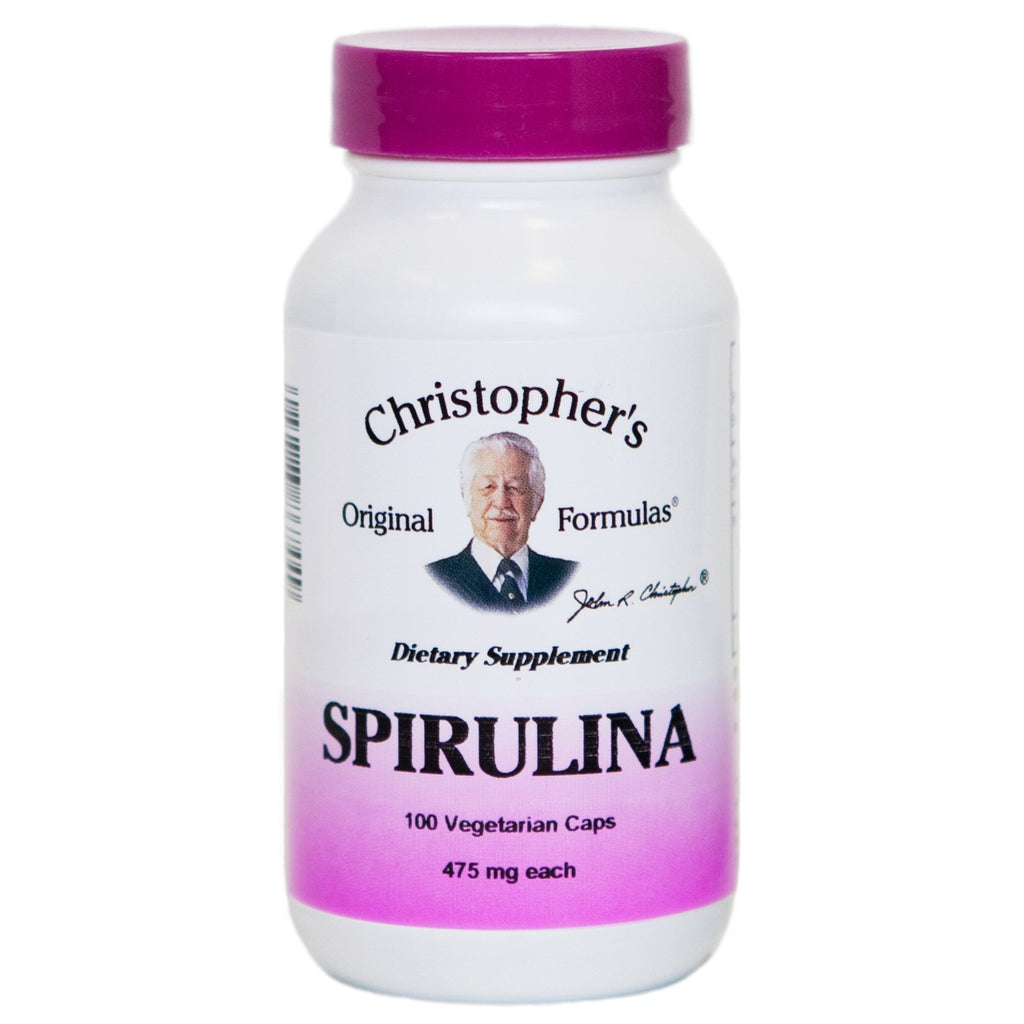 Spirulina - 100 Capsules - Christopher's Herb Shop