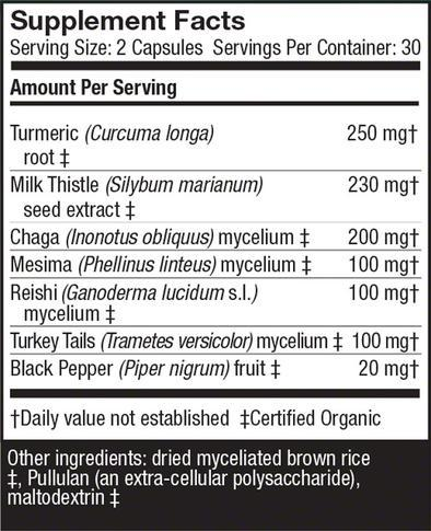 MycoBotanicals® Liver -60 Vegetarian Capsules - Christopher's Herb Shop