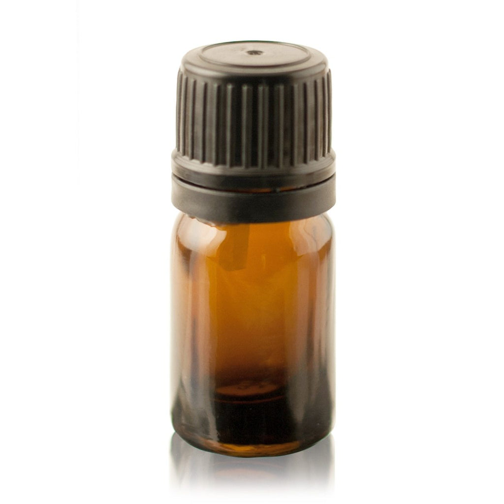 5 ml Amber Euro Dropper Bottles with Black Cap and Inserts - Christopher's Herb Shop