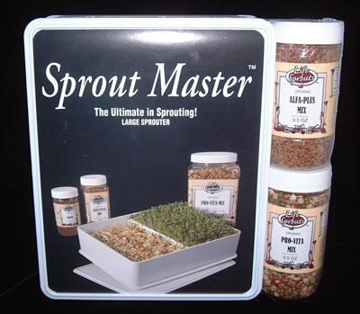 Sprout Master: 2 Seed Pack & Sprouter - Christopher's Herb Shop