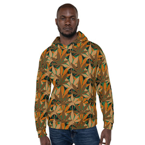 Open image in slideshow, Leaf Pattern Unisex Hoodie