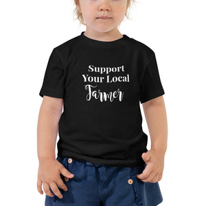 Open image in slideshow, Support Your Local Farmer Toddler Tee