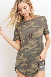 Short Sleeve Camouflage Top