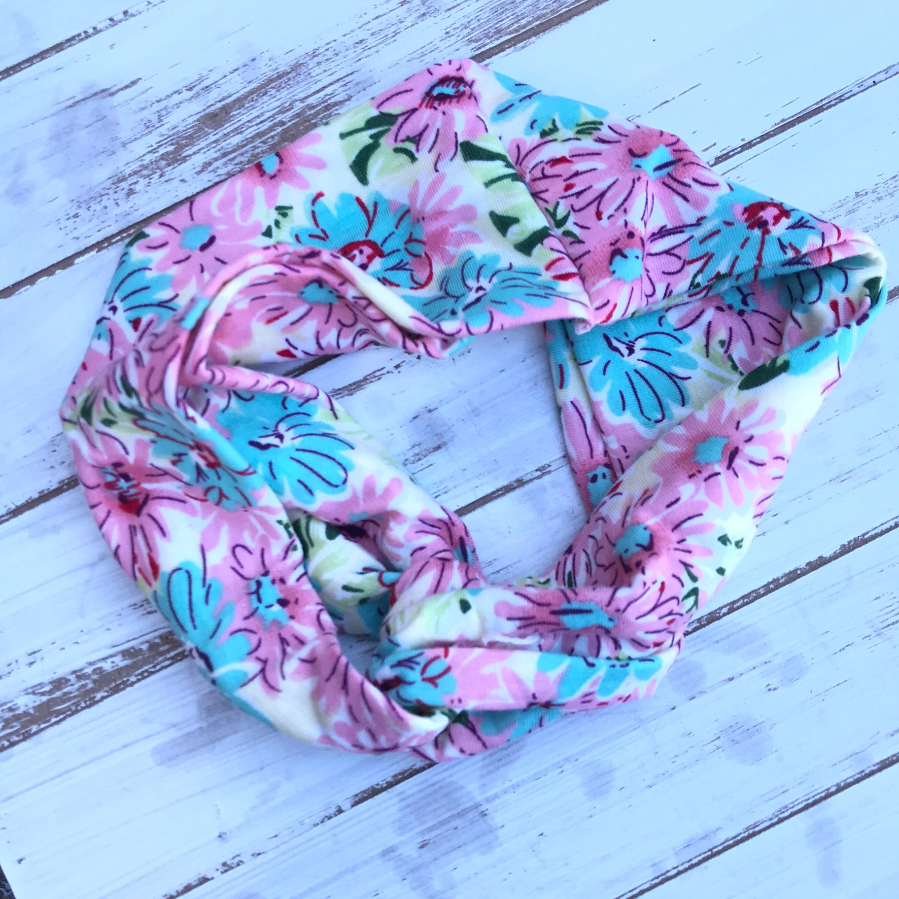 Daisy Floral Twisted Headband