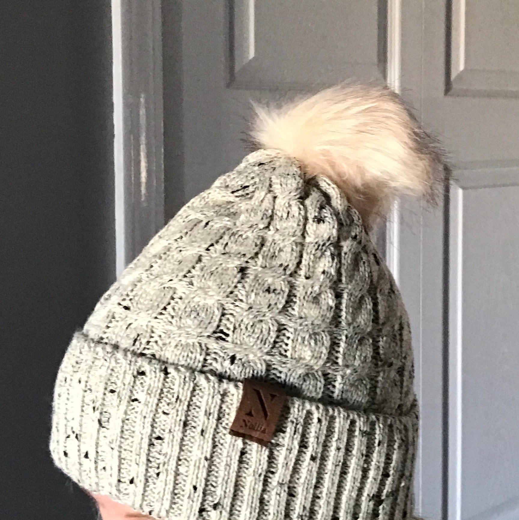 Knit winter Hat with Pom Pom