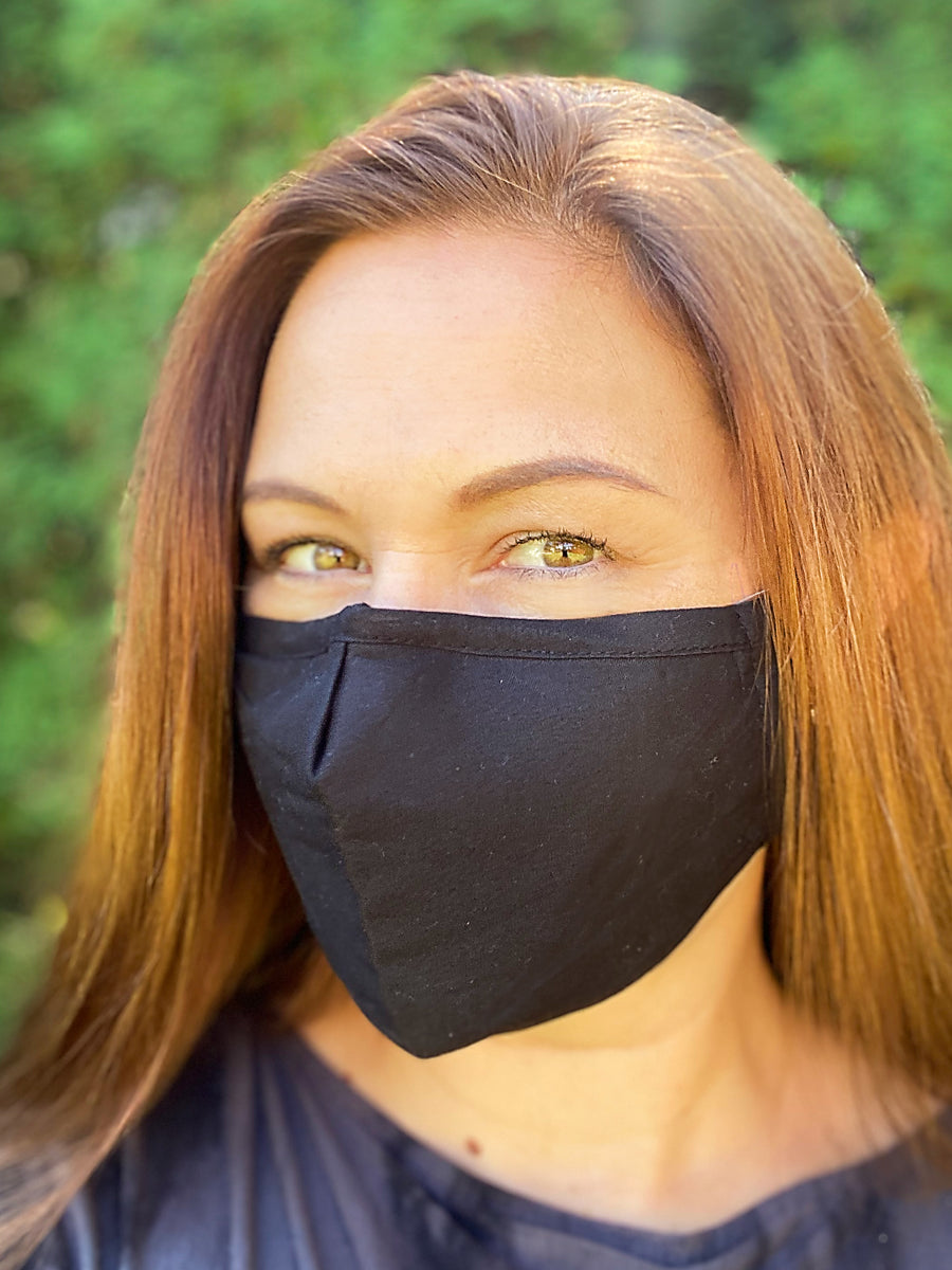 Unisex Black Face Mask (3 layer)