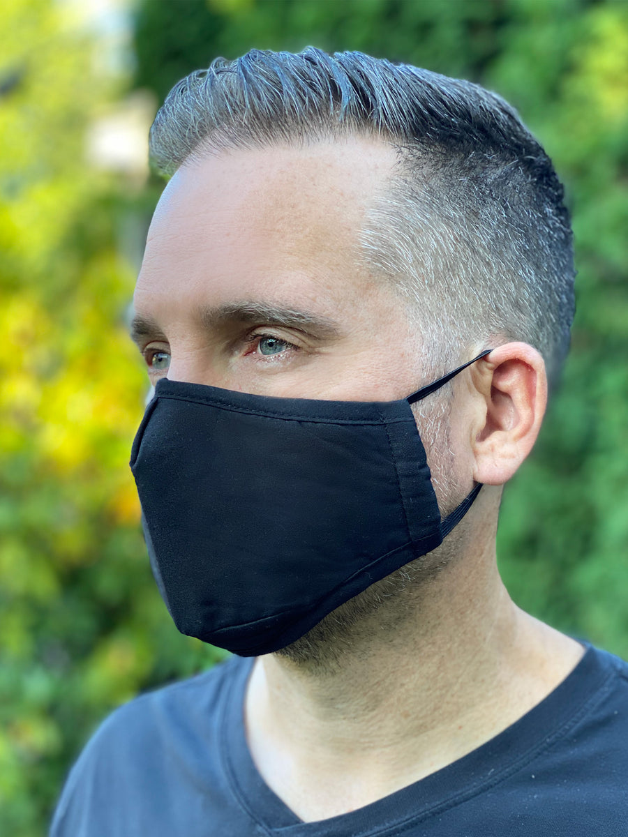 Unisex Luxe Black Mask (3 layer)
