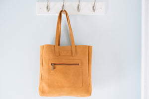 Bille leather handbag tote