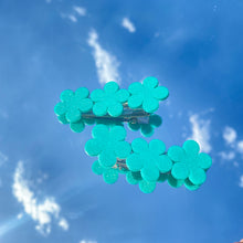 Load image into Gallery viewer, Hair clips - Set of 2 - Turquoise Flowers