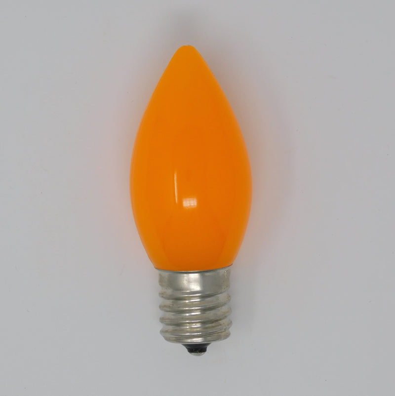 C9 Smooth Orange Opaque SMB Bulb