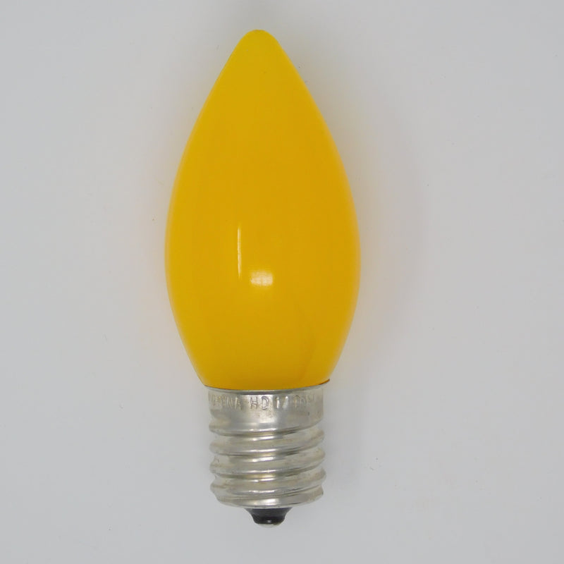 C9 Smooth Yellow Opaque SMD Bulb