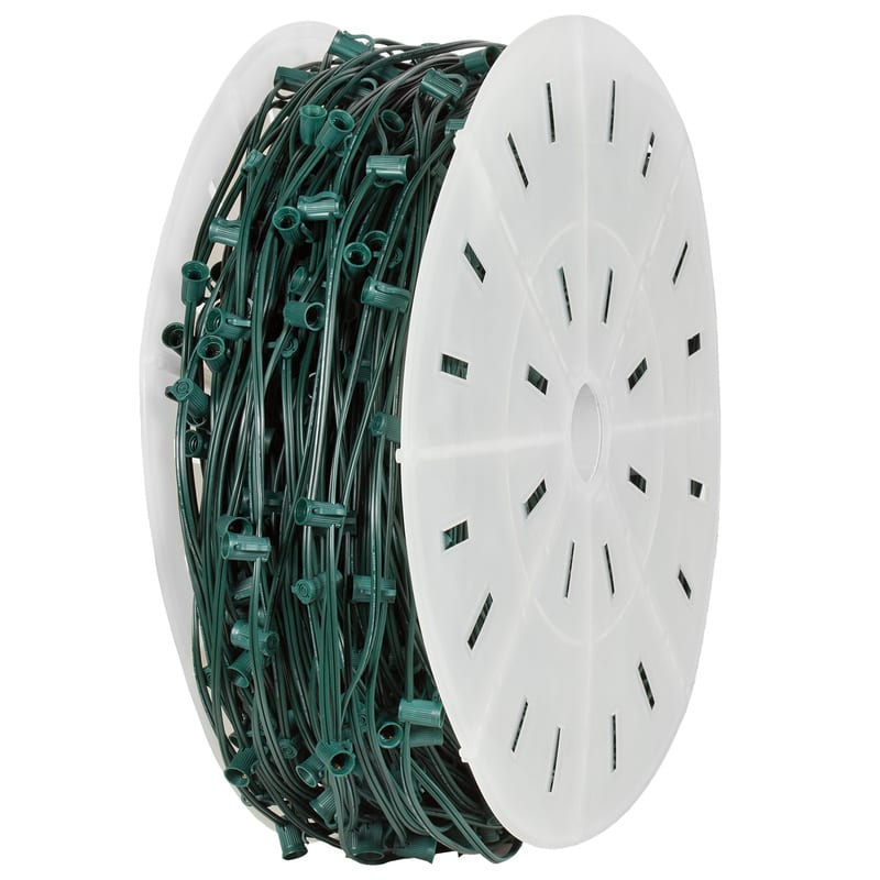 C9 500′ Green Wire Socket Spool 15″ Spacing SPT-1