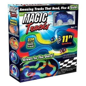 Magic Glow in the Dark Car Track Set Multicolor – 220 Pieces set