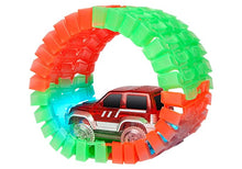 Load image into Gallery viewer, Magic Glow in the Dark Car Track Set Multicolor – 220 Pieces set