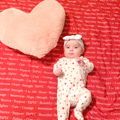 Personalized Swaddle Blanket: CHD Awareness