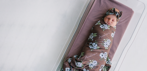 Audrey & Bear Personalized Swaddle Blankets
