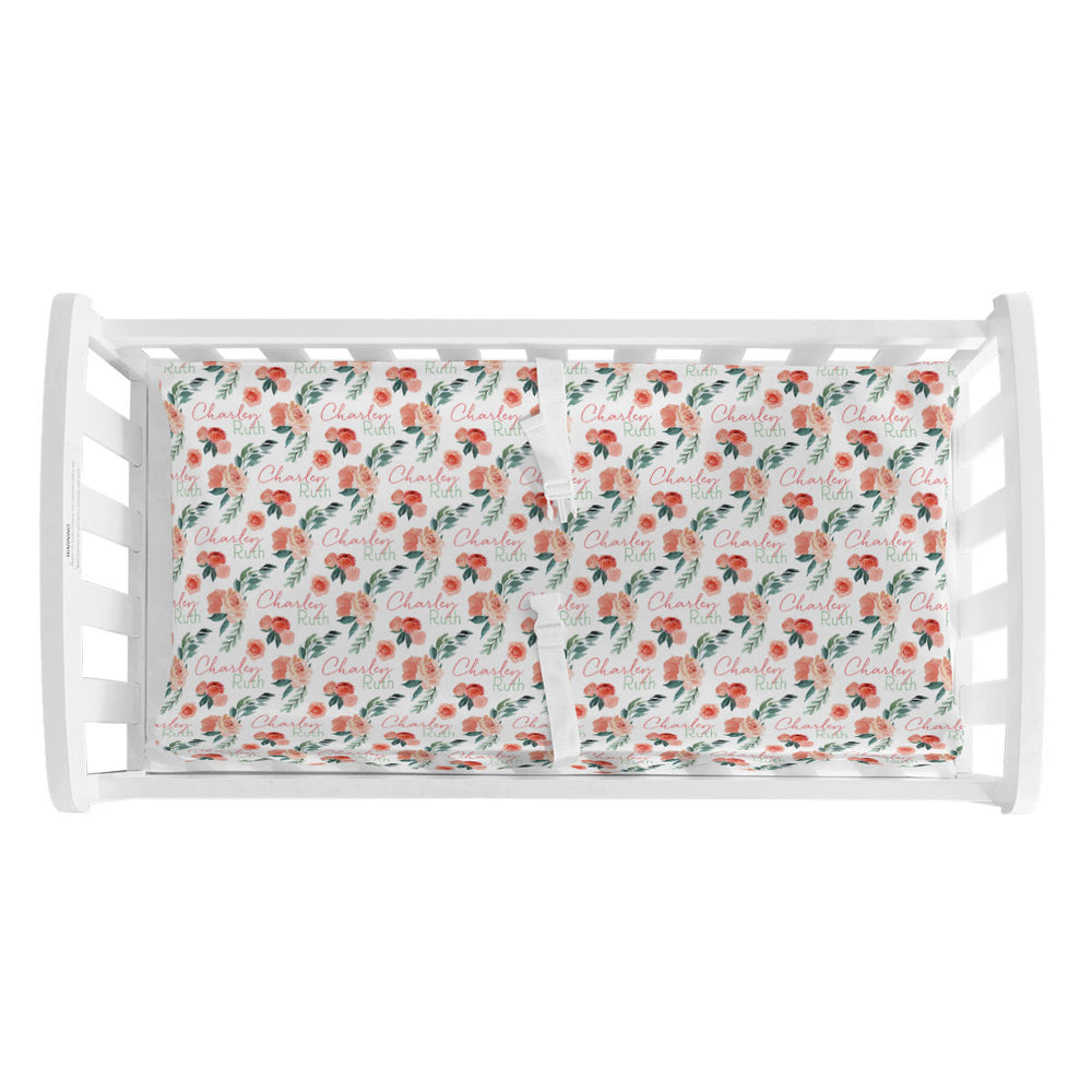 Sweet Blooms | Changing Pad Cover