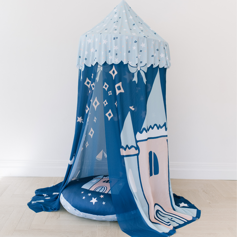 Custom Hanging Canopy Tent + Oversized Floor Pillow | Pretty Princesses