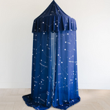 Customizable Chiffon Hanging Canopy Tent | Captivating Constellations