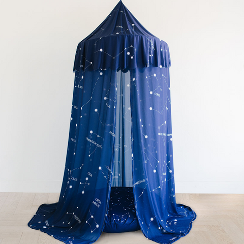 Custom Hanging Canopy Tent + Oversized Floor Pillow | Captivating Constellations