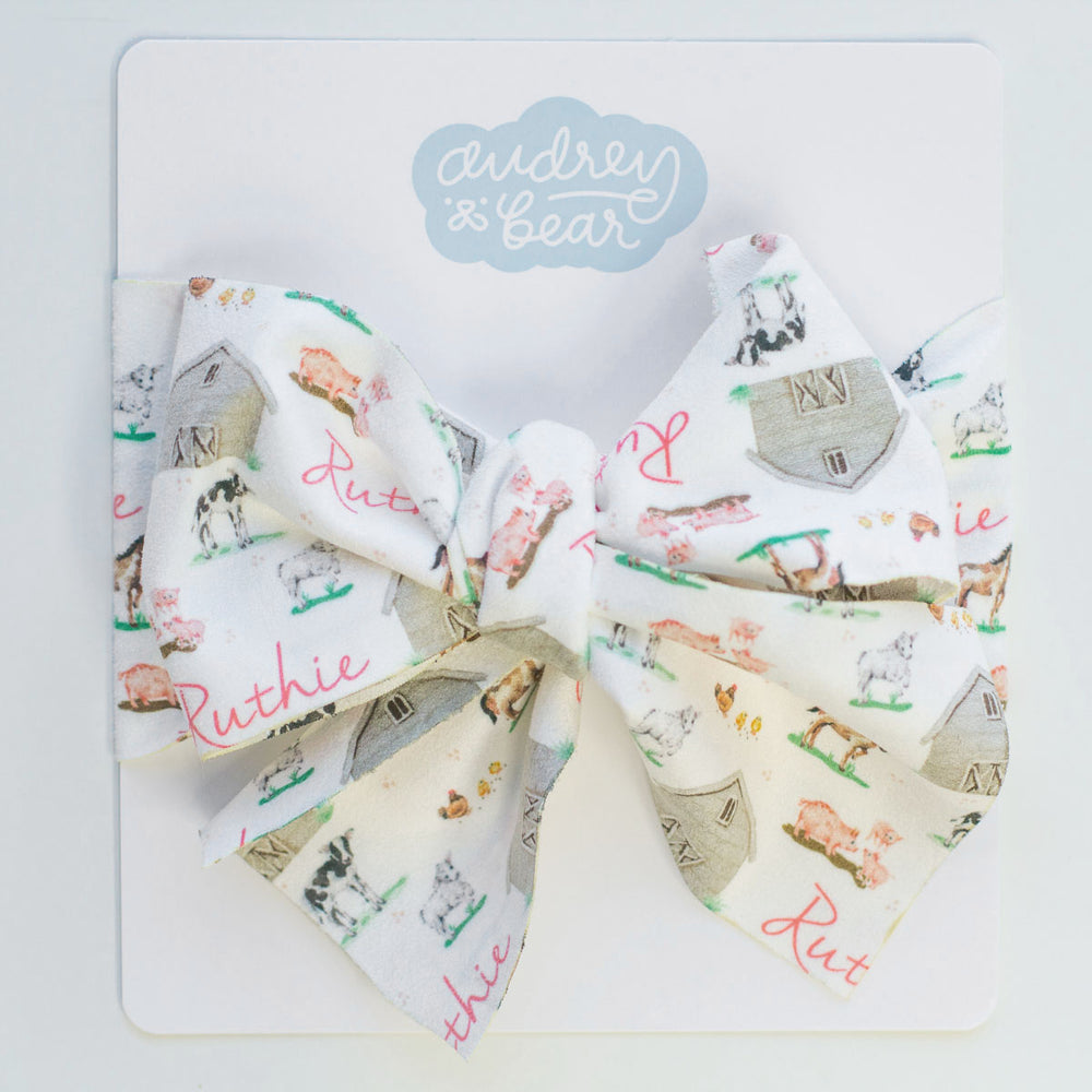 Personalized Suede Baby Headwrap | Baby Animal Days