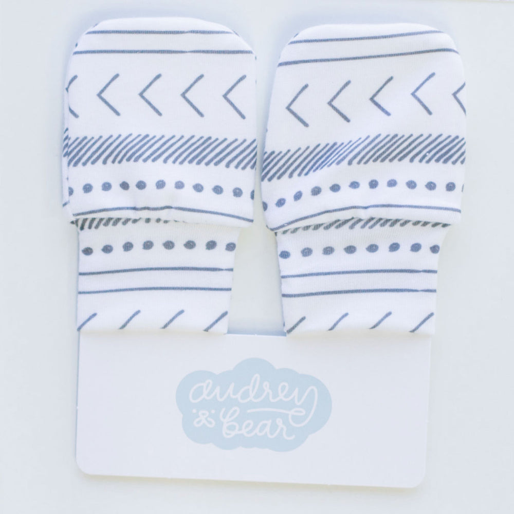 Personalized Stretchy Knit No Scratch Mittens | Tribal