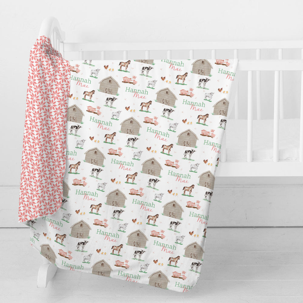 Baby Animal Days | Swaddle Blanket