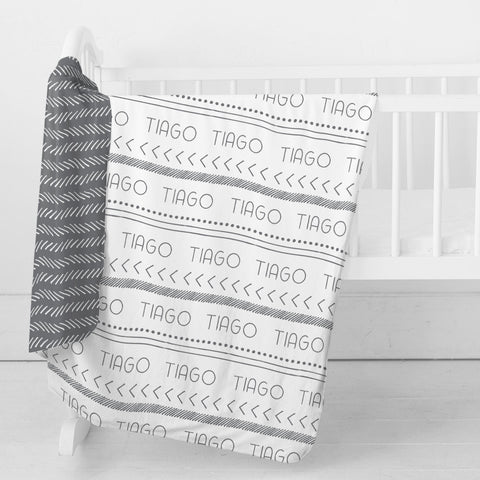 Personalized Stretchy Knit Swaddle Blanket | Tribal