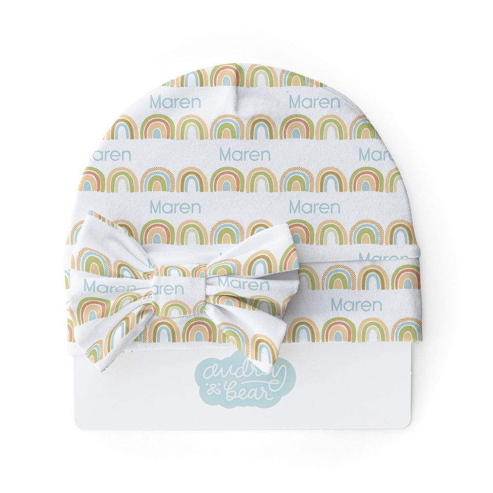 Brilliant Rainbow | Swaddle & Hat Set
