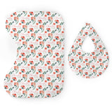 Personalized Micro Terry Bib & Burp Cloth Set | Sweet Blooms