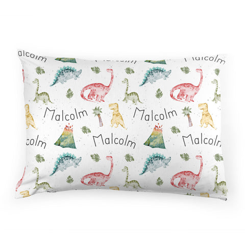 Personalized Stretchy Knit Pillow Case | Dinosaur Dreams