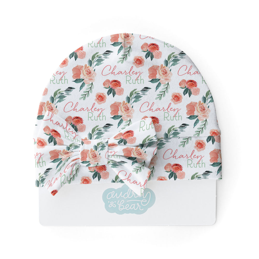Sweet Blooms | Swaddle & Hat Set