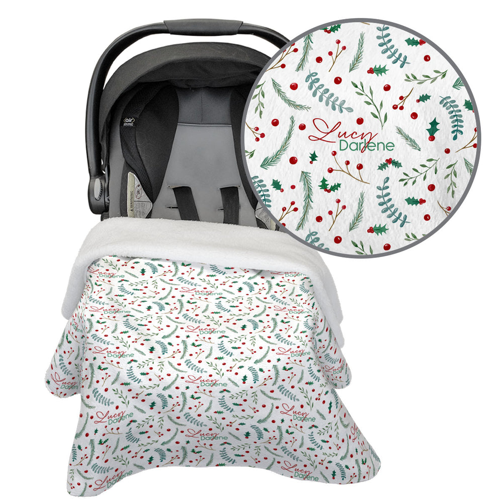 Holly Holiday | Car Seat Blanket