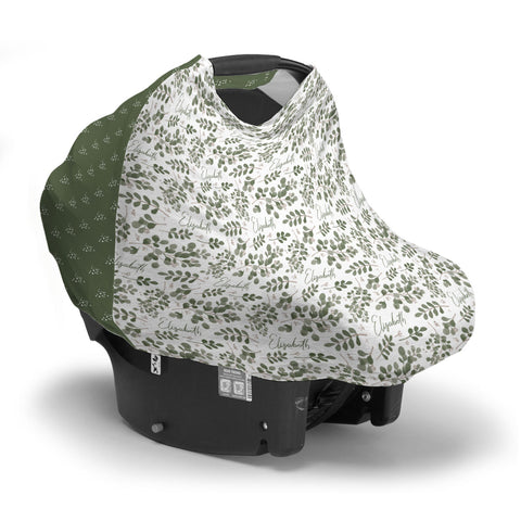 Farmhouse Greenery | Car Seat Cover