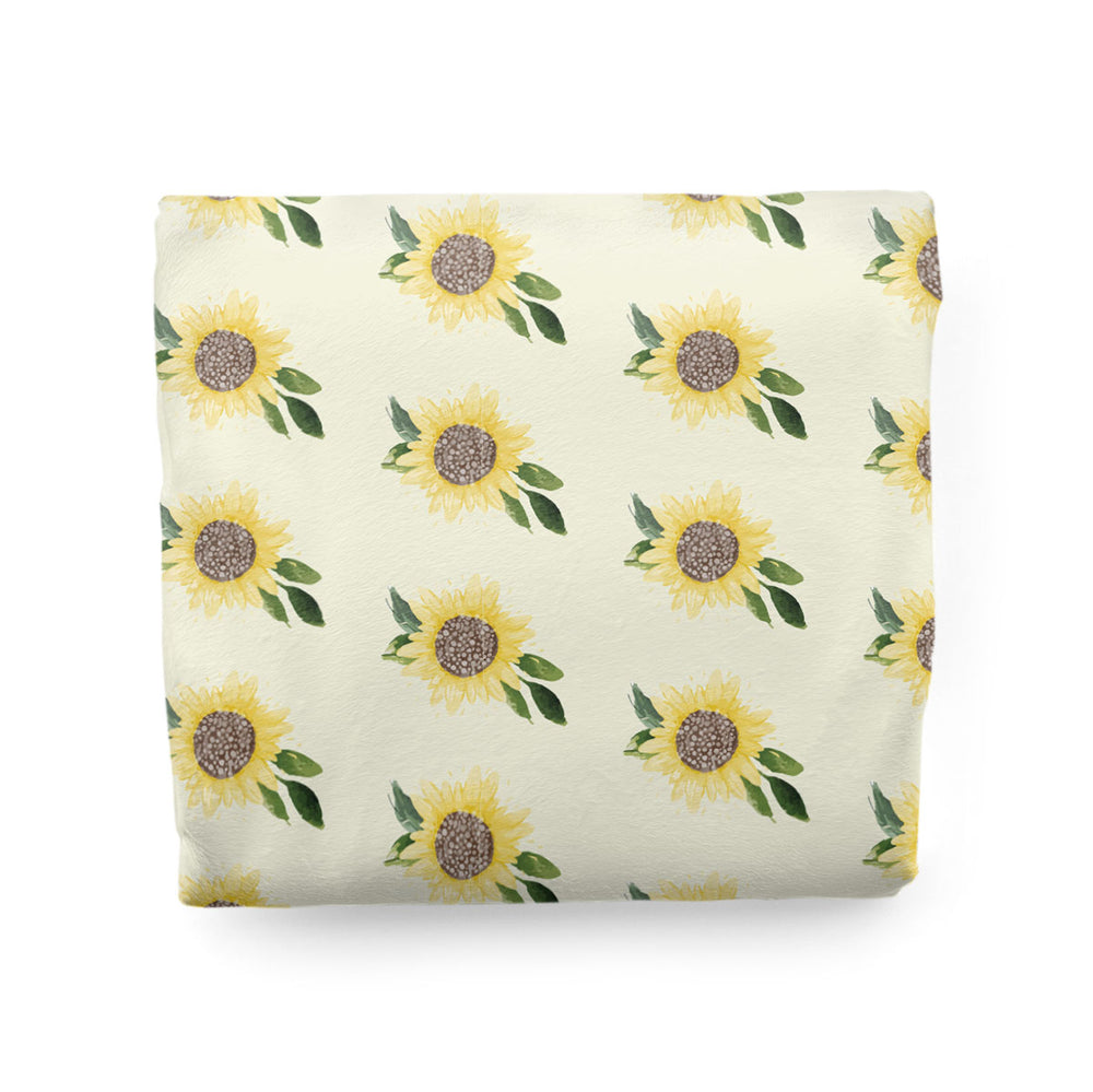 Customizable Minky Adult Size Blanket | Sweet Sunflowers