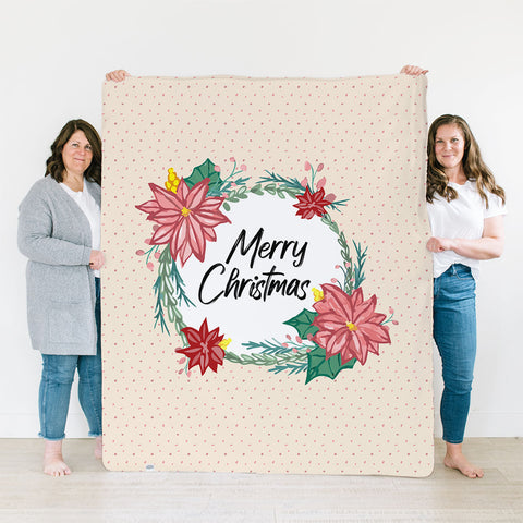 Poinsettia by Mirely Chevalier  | Family Name Blanket
