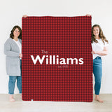 Buffalo Plaid | Family Name Blanket