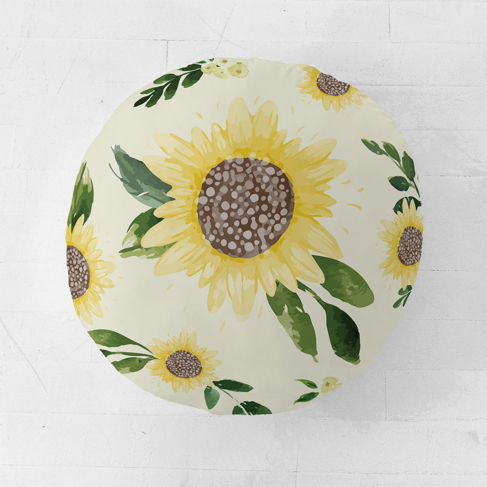 Customizable Oversized Floor Pillow | Sweet Sunflowers