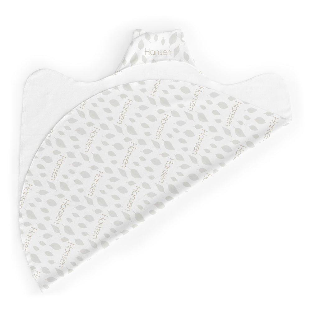 Personalized Micro Terry Hooded Baby Towels | Falling Leaves