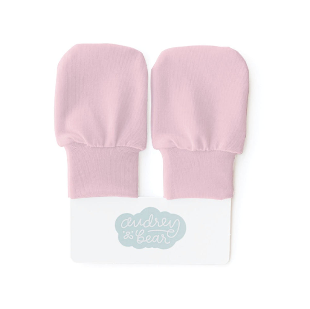 Stretchy Knit No Scratch Mittens | Bubble Gum Pink