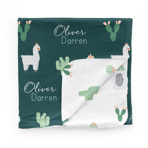 hand made personalized swaddle baby blankets Adorable Alpaca