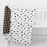 hand made personalized swaddle baby blankets Cuddly Critters