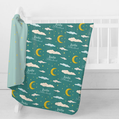 Personalized Stretchy Knit Swaddle Blanket | Twinkle Twinkle