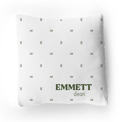 Personalized Stretchy Knit/Sherpa Throw Pillow | Multi-Font