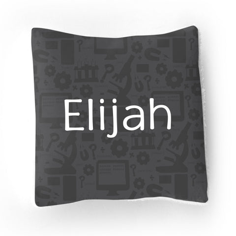 Personalized Stretchy Knit/Sherpa Throw Pillow | Daring Discovery