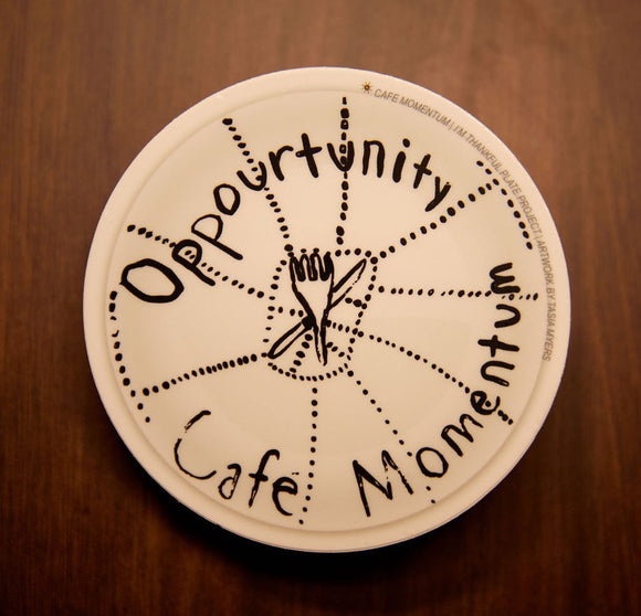 Plate Project Sticker - Opportunity Café Momentum