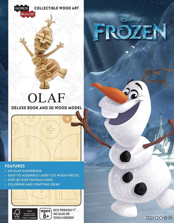 Incredibuilds Frozen Olaf Dlx Model W Book