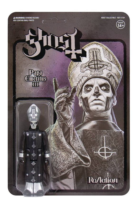 Ghost Papa Emeritus Black Metal Version Reaction Fig