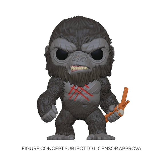 Pop Movies Godzilla Vs Kong Battle Scarred Kong Vin Fig
